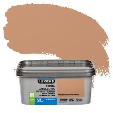 Farba wewnętrzna NARAŻONYCH NA ZABRUDZENIA 2,5 l Brzoskwiniowy sorbet LUXENS