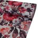 Tkanina na mb RUBER czerwona w kwiaty szer. 150 cm