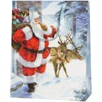 Torebka na prezenty SANTA IS COMING 13 x 33.5 cm
