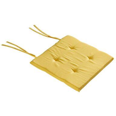 Poduszka na krzesło ELEMA żółta 40 x 40 x 2 cm INSPIRE