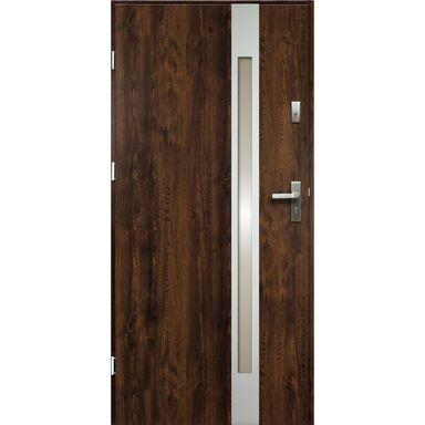 Drzwi wejściowe TEMIDAS Orzech 90 Lewe