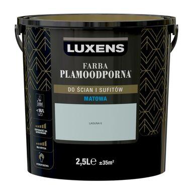 Farba wewnętrzna PLAMOODPORNA 2.5 l Laguna 6 LUXENS