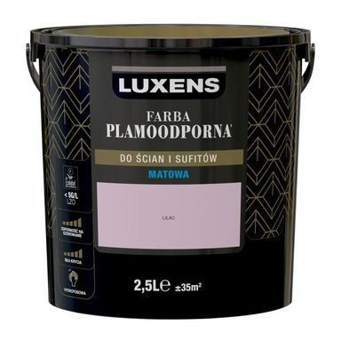 Farba wewnętrzna PLAMOODPORNA 2.5 l Lilac LUXENS