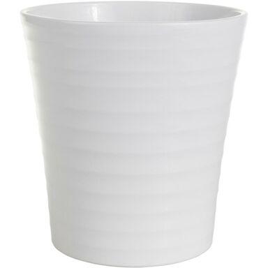 Osłonka do storczyka 13 cm ceramiczna biała