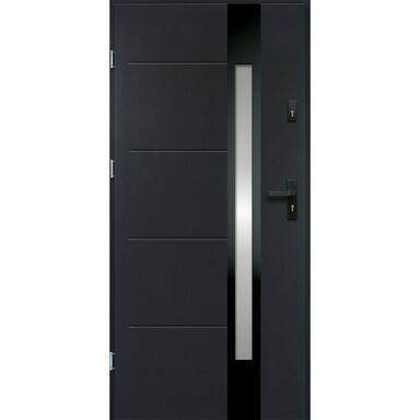 Drzwi zewnętrzne stalowe ARIADNA Antracyt 90 Lewe