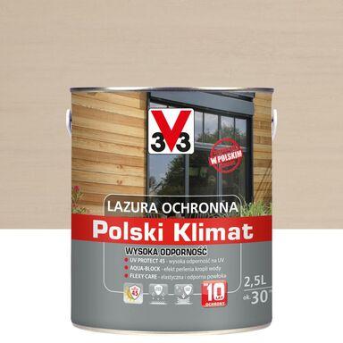 Lazura do drewna Polski klimat 2.5 l Biały kremowy V33