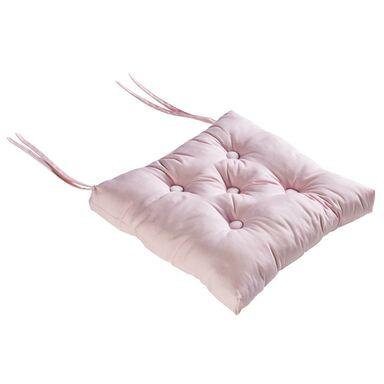 Poduszka na krzesło ELEMA różowa 40 x 40 x 8 cm INSPIRE