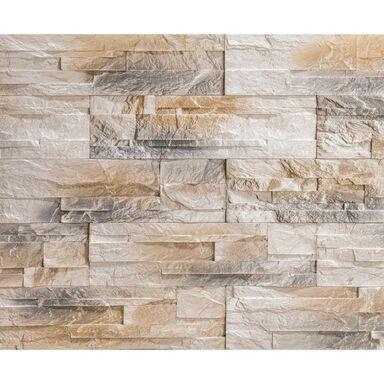 Kamień dekoracyjny gipsowy Perote kremowy 35 x 10 cm 0.35m2 Steinblau