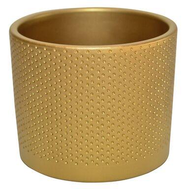 Osłonka ceramiczna 17.4 cm złota WALEC