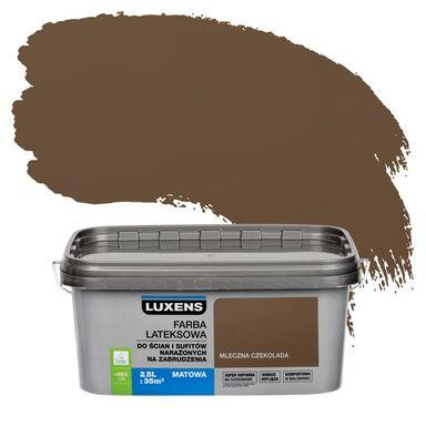 Farba wewnętrzna NARAŻONYCH NA ZABRUDZENIA 2,5 l Mleczna czekolada LUXENS