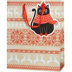 Torebka na prezenty XMAS CAT 13 x 33.5 cm