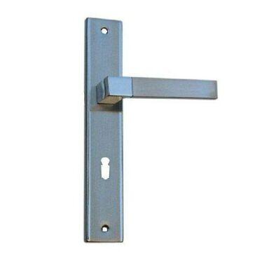 Klamka drzwiowa z długim szyldem pod klucz HELEN 72 Chrom/Nikiel szczotkowany SCHAFFNER