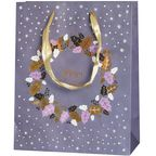 Torebka na prezenty WREATH FOR CHRISTMAS 10 x 25 cm