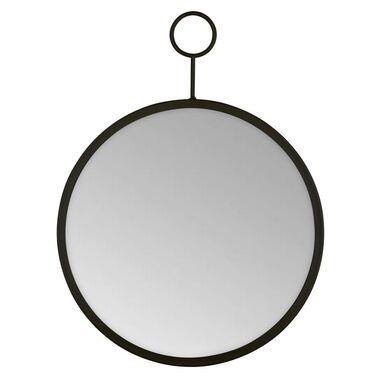 Lustro okrągłe z zawieszką RIMO czarne śr. 40 cm