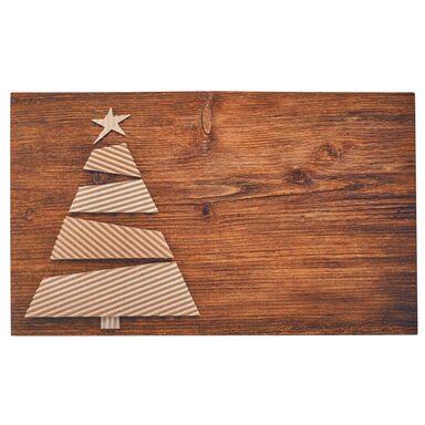Wycieraczka świąteczna CHOINKA 75 x 45 cm gumowa