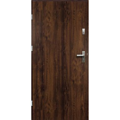 Drzwi zewnętrzne stalowe  ARTEMIDA Orzech 90 Lewe