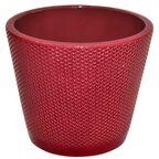 Osłonka na doniczkę 13.9 cm ceramiczna rubin STOŻEK CERAMIK