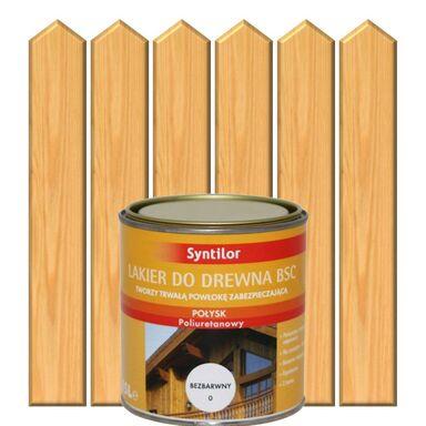 Lakier zewnętrzny do drewna BSC 0.25 l Bezbarwny Połysk SYNTILOR
