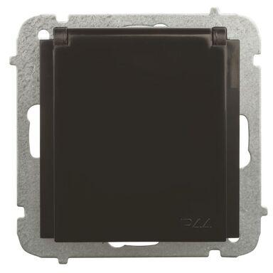 Gniazdo pojedyncze IP44 SENTIA Czarny ELEKTRO-PLAST