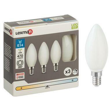 Żarówka LED E14 3 szt. (230 V) 4.5 W 470 lm Neutralna LEXMAN
