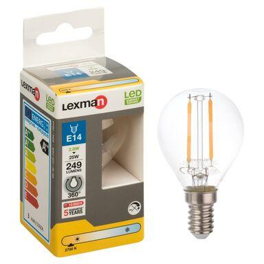 Żarówka LED E14 (230 V) 2.8 W 249 lm Ciepła biel LEXMAN