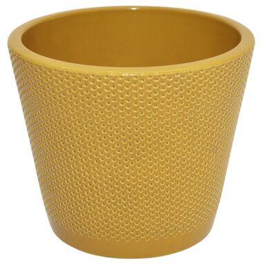 Osłonka na doniczkę 15 cm ceramiczna curry STOŻEK