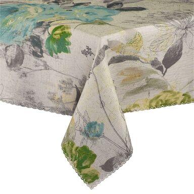 Obrus na stół Flower zielono-niebieski 140 x 220 cm