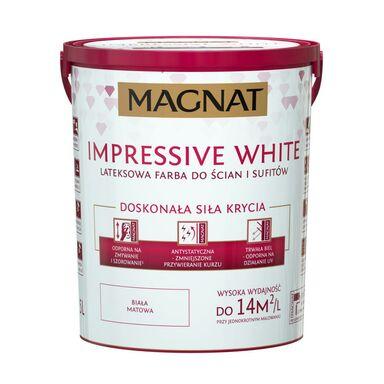 Farba wewnętrzna Impressive white 5 l biała Magnat
