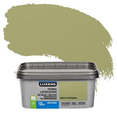 Farba wewnętrzna NARAŻONYCH NA ZABRUDZENIA 2,5 l Mięta cytrynowa LUXENS