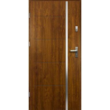 Drzwi wejściowe IRIS RC2 Złoty dąb 80 Lewe