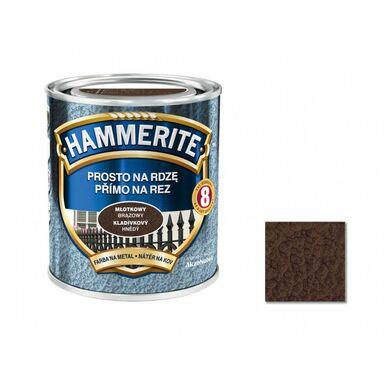 Farba antykorozyjna PROSTO NA RDZĘ 0.25 l brązowy Młotkowy HAMMERITE