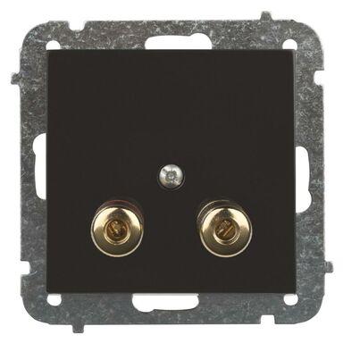 Gniazdo głośnikowe pojedyncze SENTIA  czarny błyszczący  ELEKTRO - PLAST