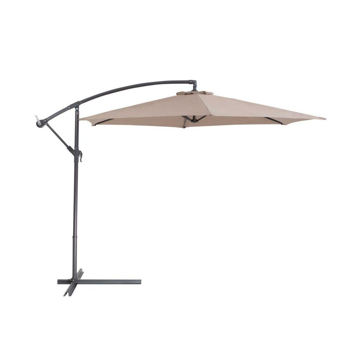 Parasol ogrodowy mokka beliani parasole ogrodowe podstawy w atrakcyjnej cenie w sklepach - Leroy merlin parasol deporte ...