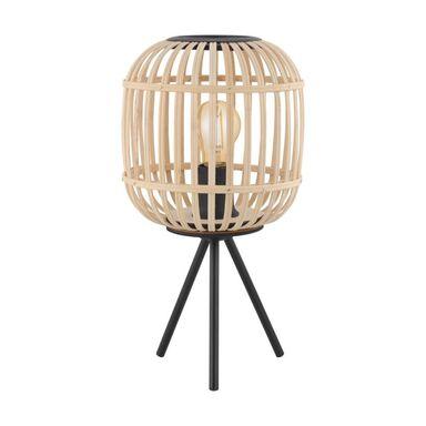 Lampa stołowa BORDESLEY drewno czarna E27 EGLO