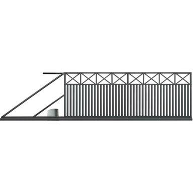 Brama przesuwna BOSTON 400 x 150 cm lewa z automatem POLBRAM