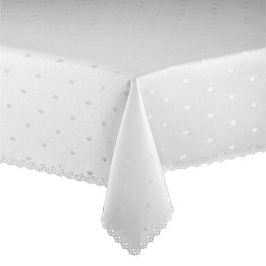 Obrus na stół Dot 140 x 250 cm biały