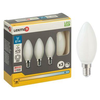 Zestaw żarówek LED E14 (230 V) 4,5 W 470 lm Ciepła biel LEXMAN