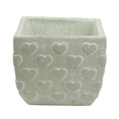 Osłonka ceramiczna 18 x 18 cm szara 985290 KAEMINGK