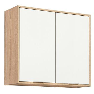 Szafka kuchenna wisząca Vanessa 80 cm kolor biały/dąb sonoma