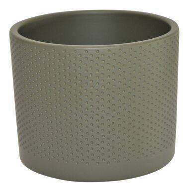 Osłonka ceramiczna 11.9 cm szaro-zielona WALEC CERAMIK