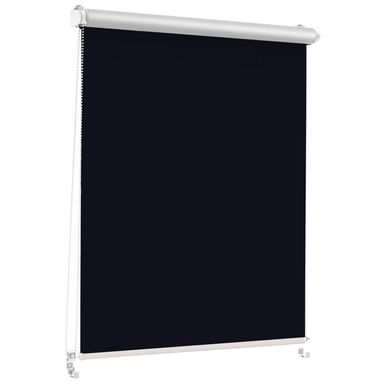 Roleta zaciemniająca Silver Click 98.5 x 150 cm czarna termoizolacyjna