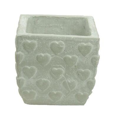 Osłonka ceramiczna 11 x 11 cm szara 985292 KAEMINGK