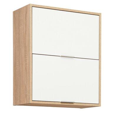 Szafka kuchenna wisząca Vanessa 60 cm kolor biały/dąb sonoma