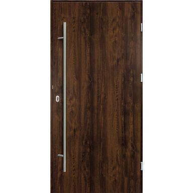 Drzwi zewnętrzne stalowe  SOLID Orzech 90 Prawe