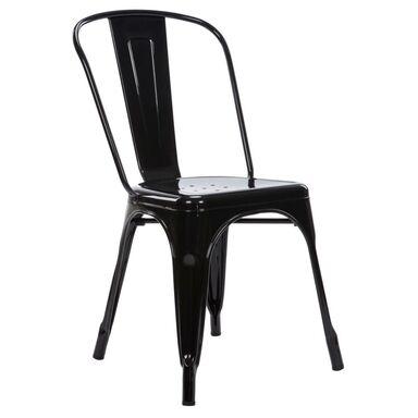 Krzesło ogrodowe ALTEA stalowe czarne