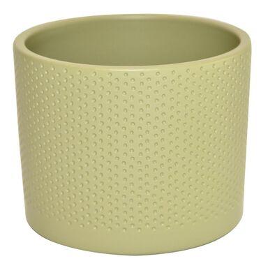 Osłonka ceramiczna 15 cm oliwkowa WALEC
