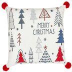 Poduszka świąteczna TREE czerwona 45 x 45 cm INSPIRE
