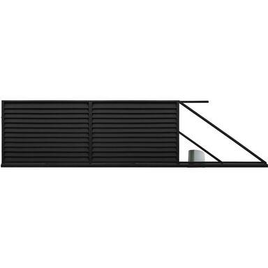Brama przesuwna KRETA 400 x 150 cm prawa z automatem POLBRAM czarna