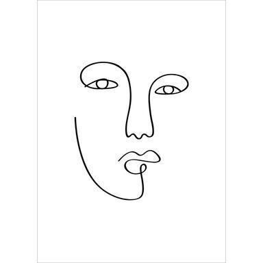 Obraz Twarz Rycina 30 x 40 cm