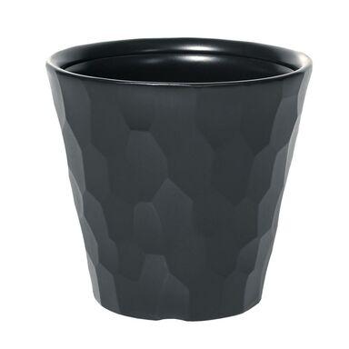 Doniczka plastikowa 29.3 cm antracytowa ROCKA